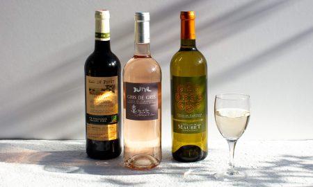 vin rosé rouge et blanc